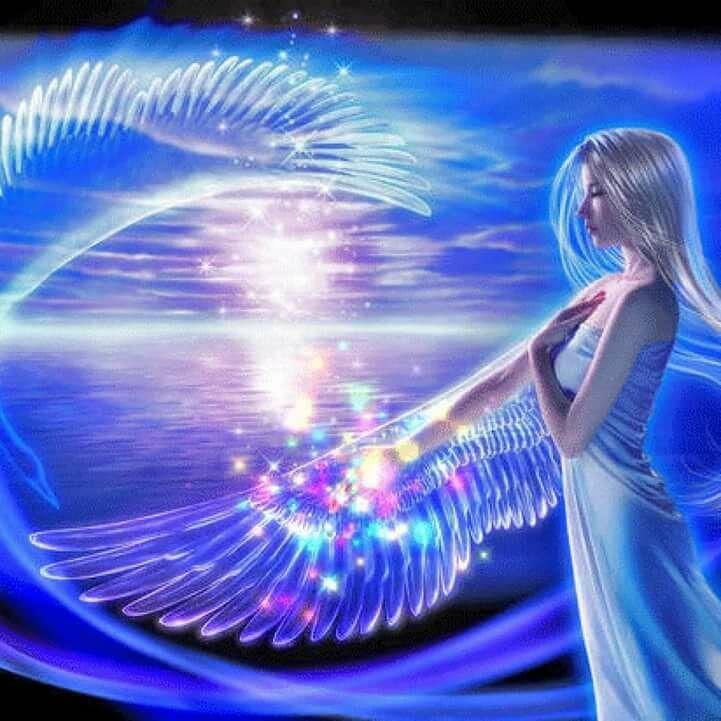 Картинки блестящие анимация ангелы