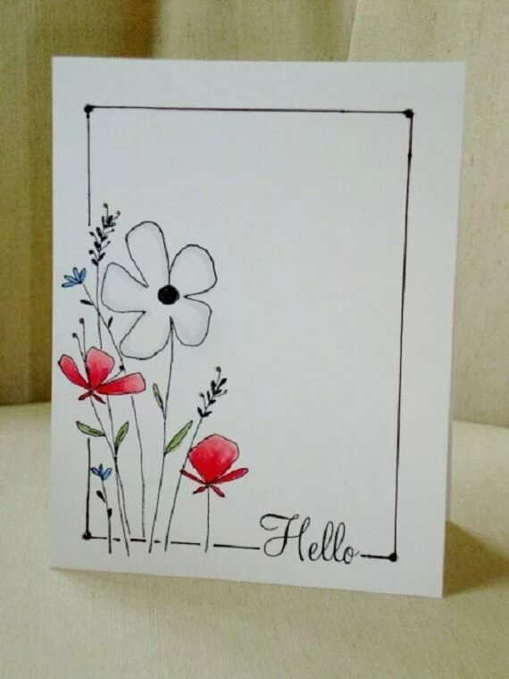 Цветы юбилеем, нарисовать красивую открытку для подруги просто так