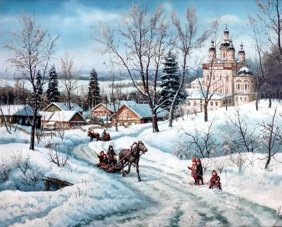 русские пейзажи в открытках тоже время