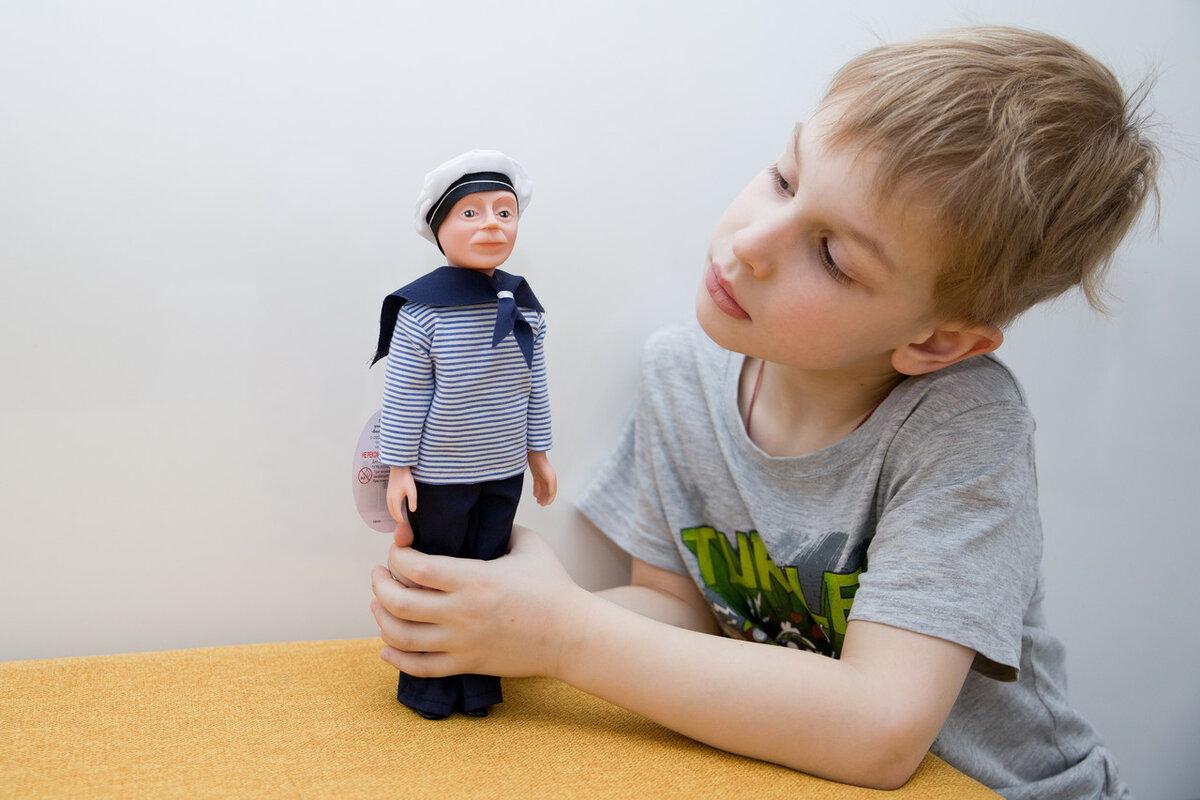 Куклы по профессиям. Кукла моряк Борис.