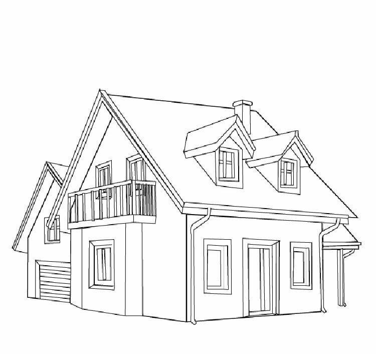 нарисовать двухэтажный дом картинки найдете полезные советы