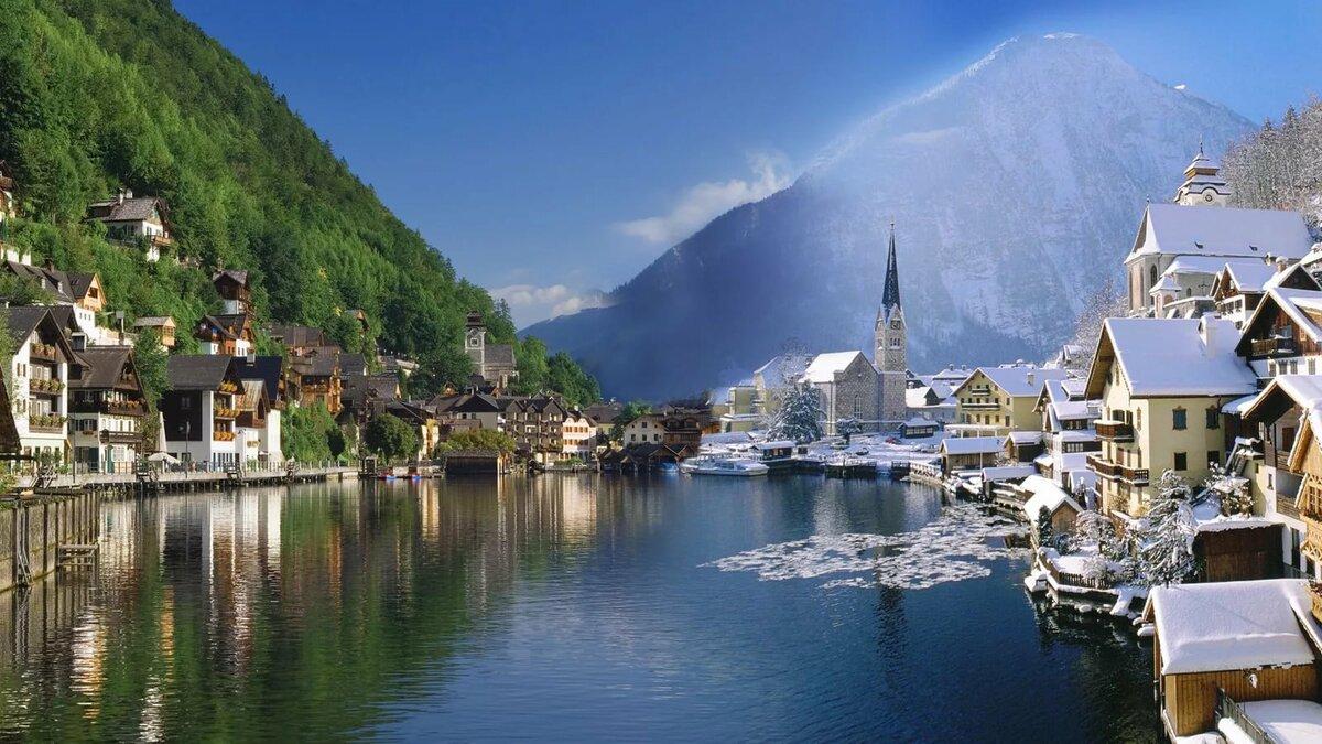 зимний снежный покров на равнинах Австрии лежит недолго, в отличие от горных районов