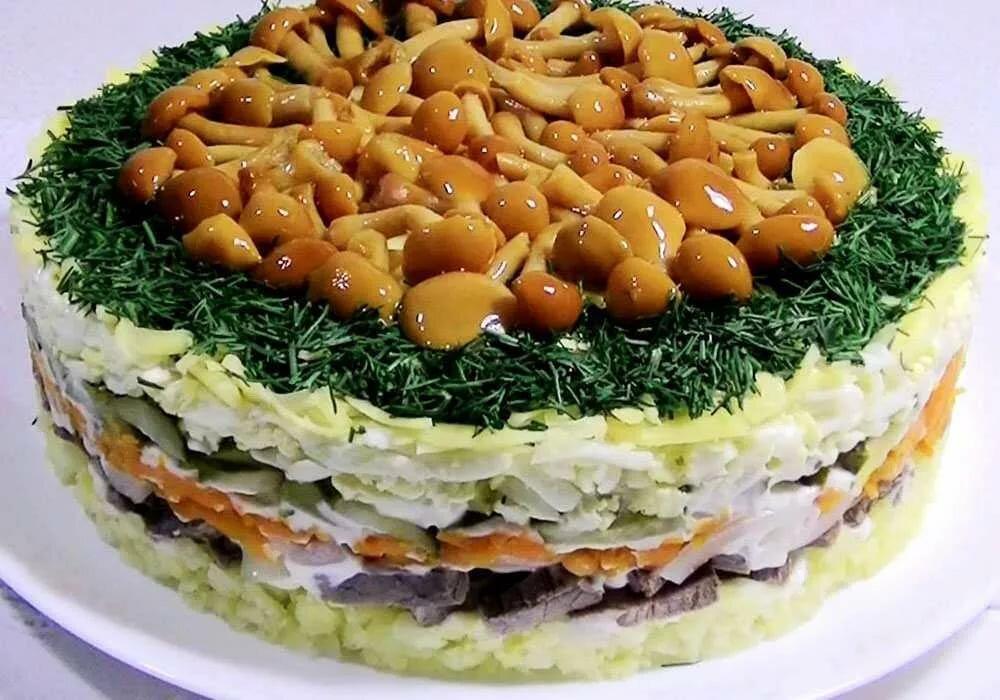 салаты из грибов рецепты с фото пошагово телезрителей