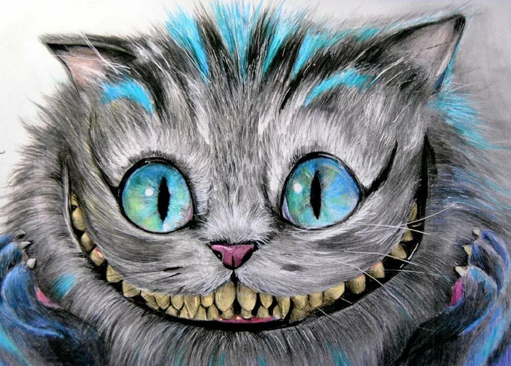 Совы, картинка улыбка чеширского кота