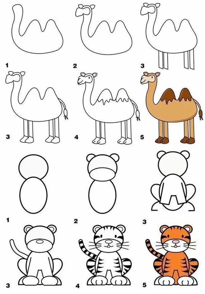 Животные зимой картинки рисунки них имеет
