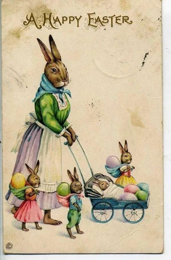 Приятных, открытки на пасху с кроликом