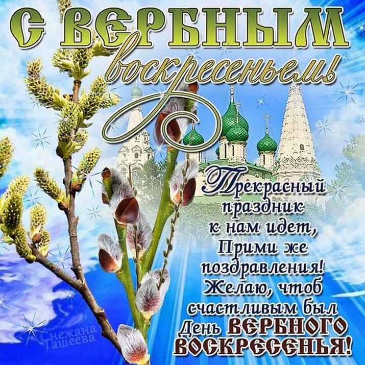 Поздравление с вербный воскресеньем открытки