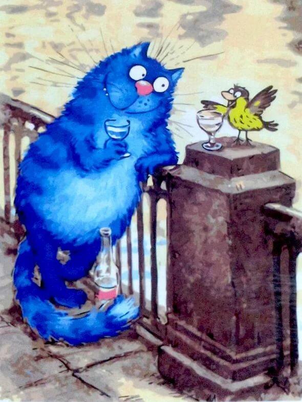 Открытки ирины зенюк коты