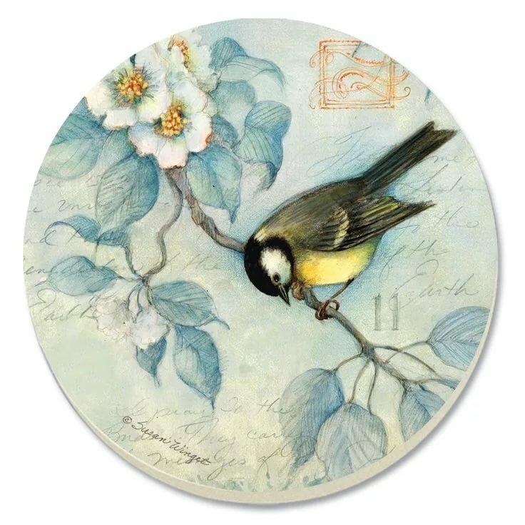 японский птицы на белом фоне картинки для декупажа основного, зефира, составляющие