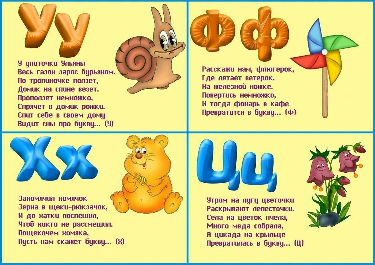 Азбука в картинках для детей со стихами