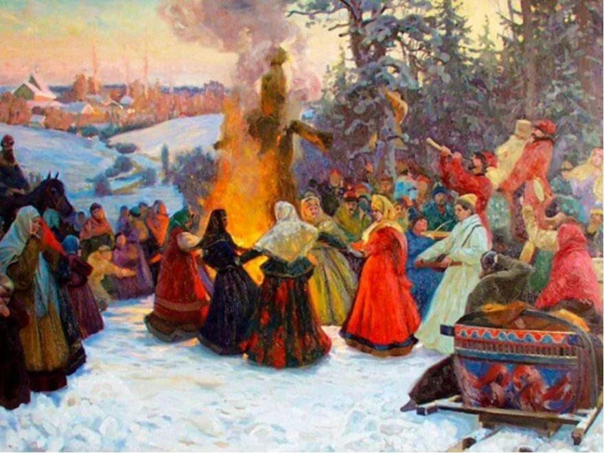 Грузинском, картинки народных праздников на руси