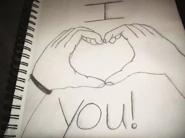 Рисунок для любимой девушки ручкой, картинки