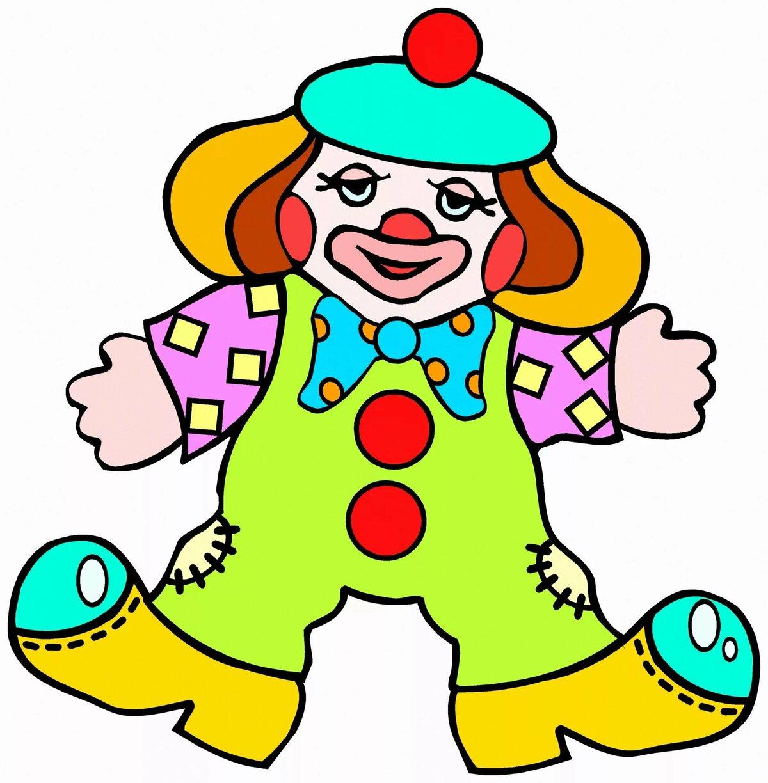 Рисунок для, открытки клоуны