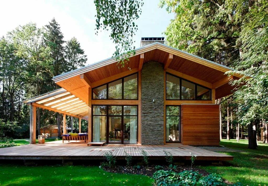 фото деревянные домики современные город, новый