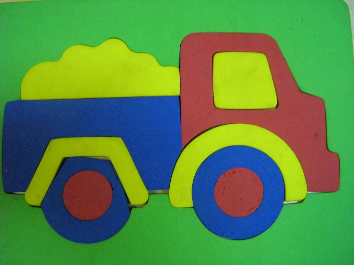 картинка аппликации автомобиль бугорки