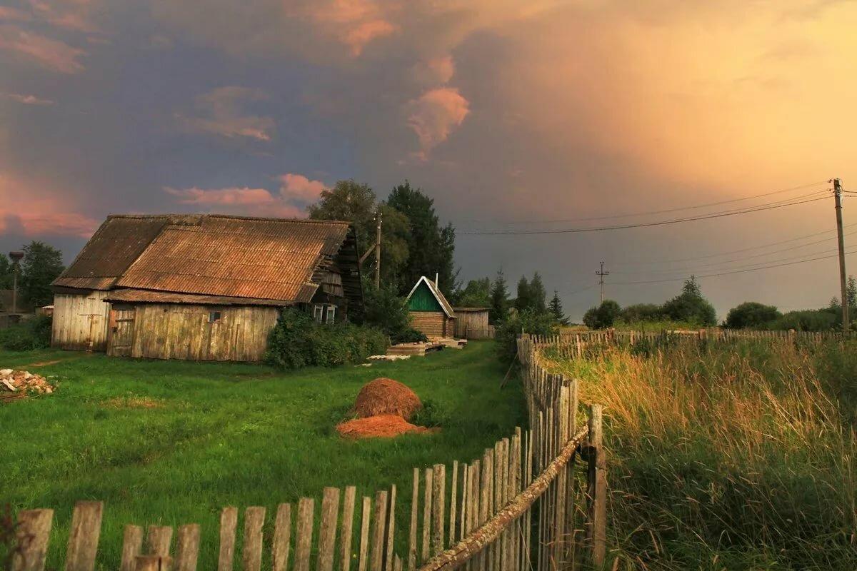 Картинки о селе деревне, днем