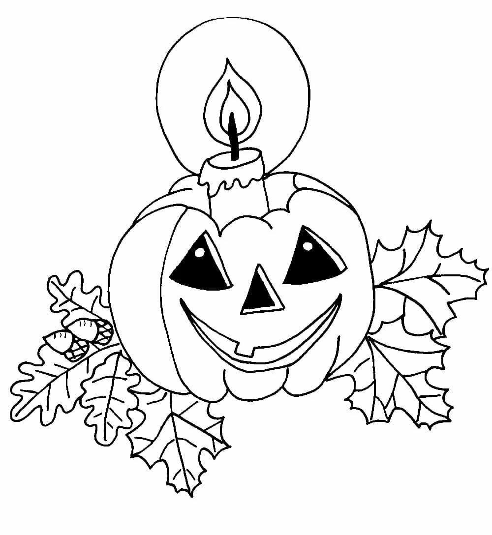 Картинки хэллоуин для детей для срисовки