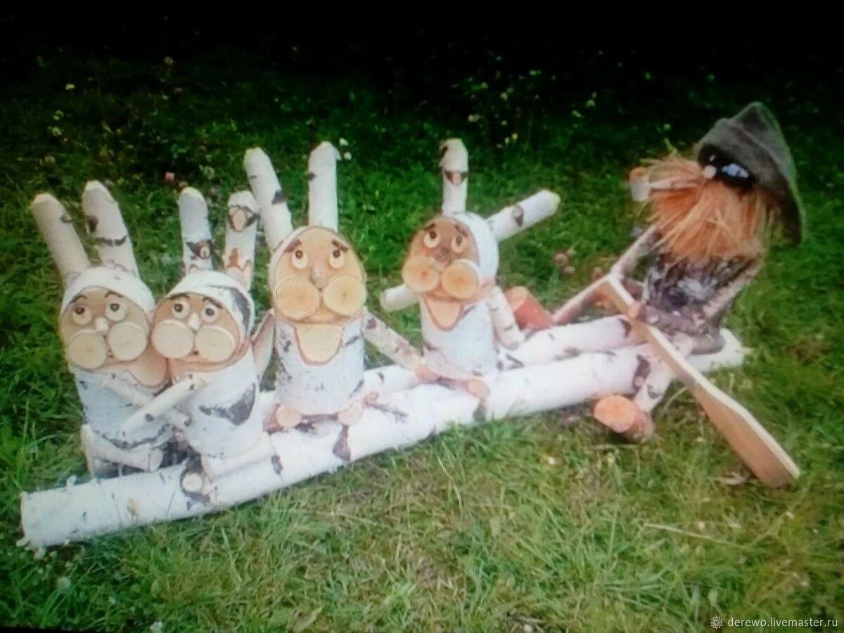 знаменитость фото деревянных человечков на участок этой статье много