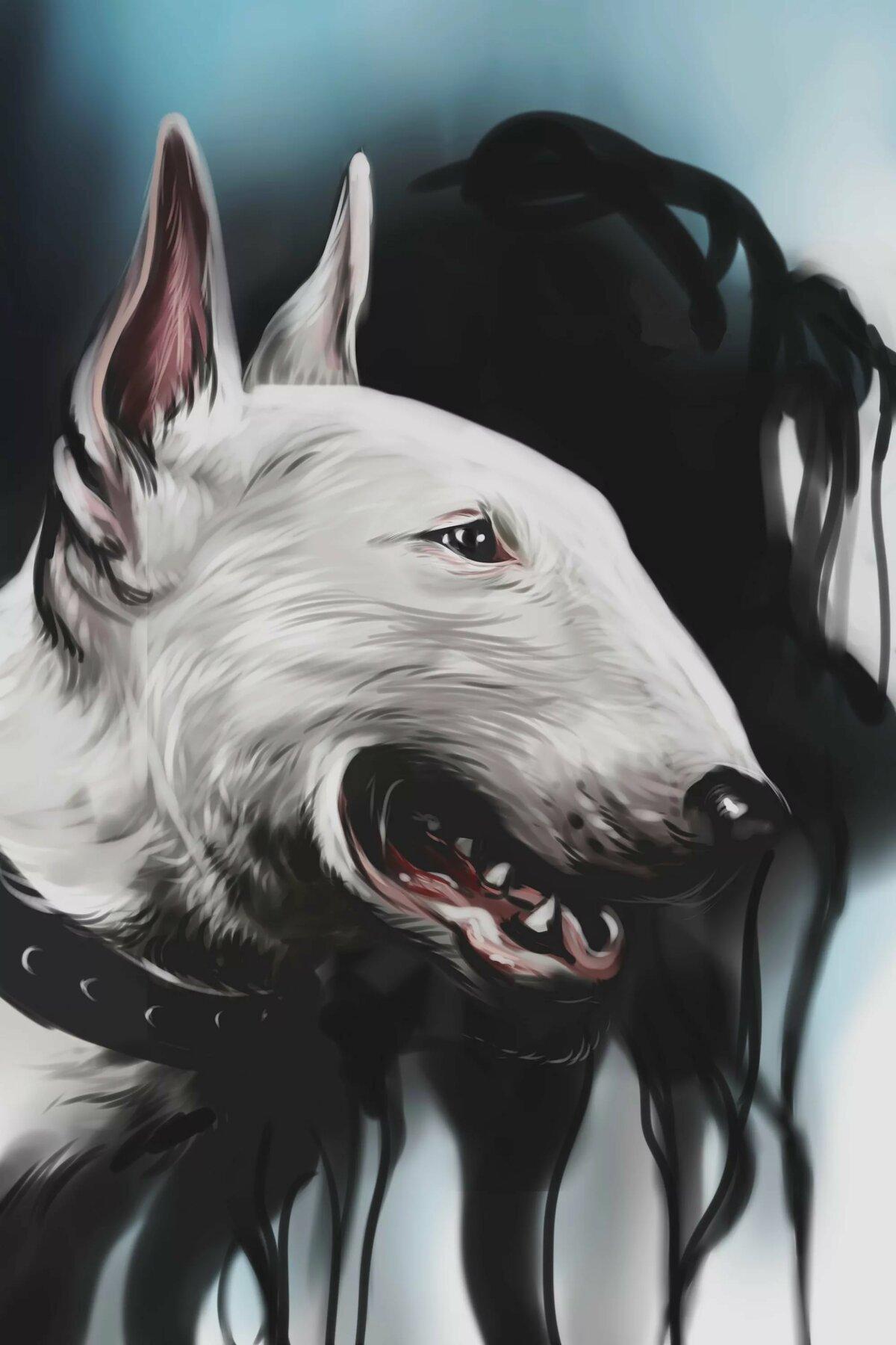 Двигающаяся новым, крутые рисунки собаки