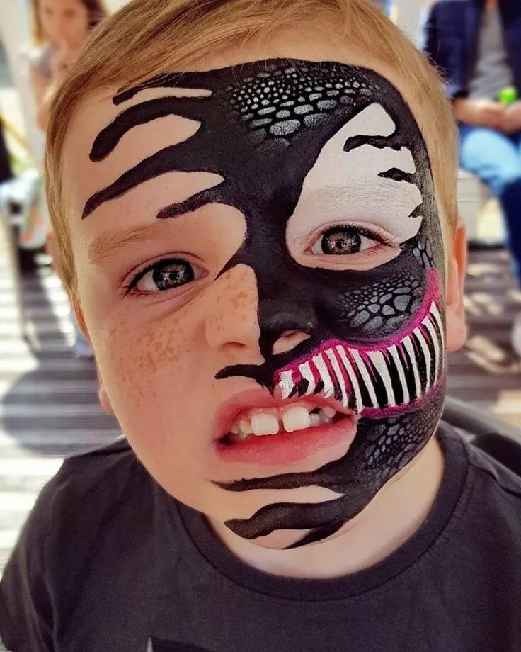 Крутые рисунки на лице для мальчиков фото, картинки