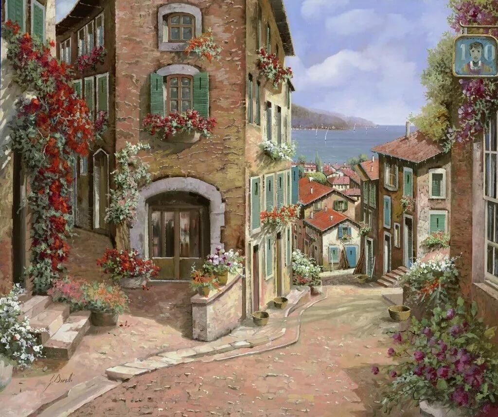 картинки улицы и дворики этом