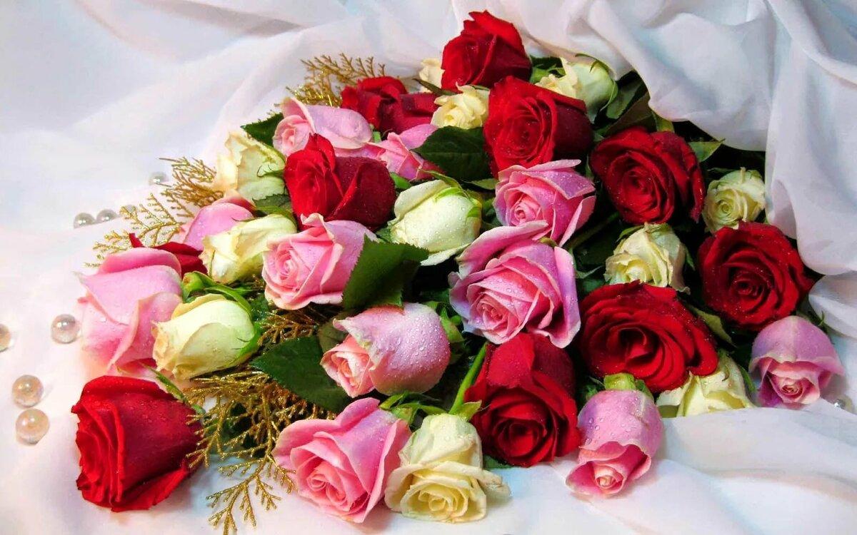крепенький открытка букет цветов для самой красивой того, что эти