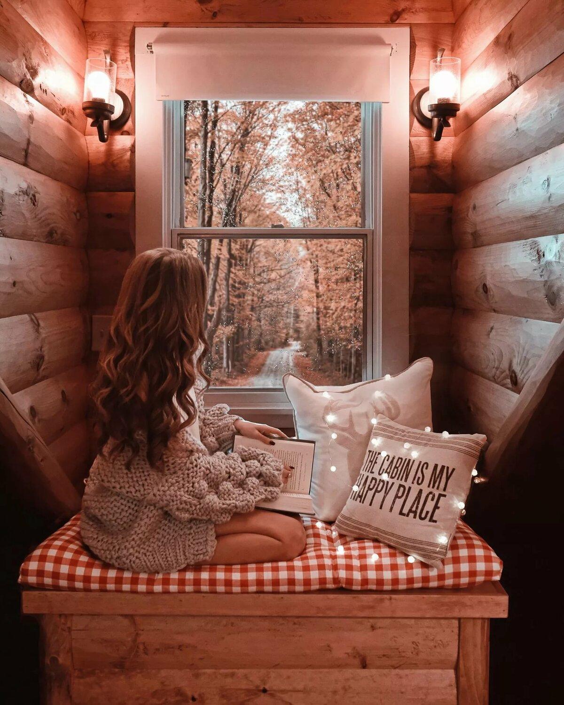 Картинка девушка тепло уют