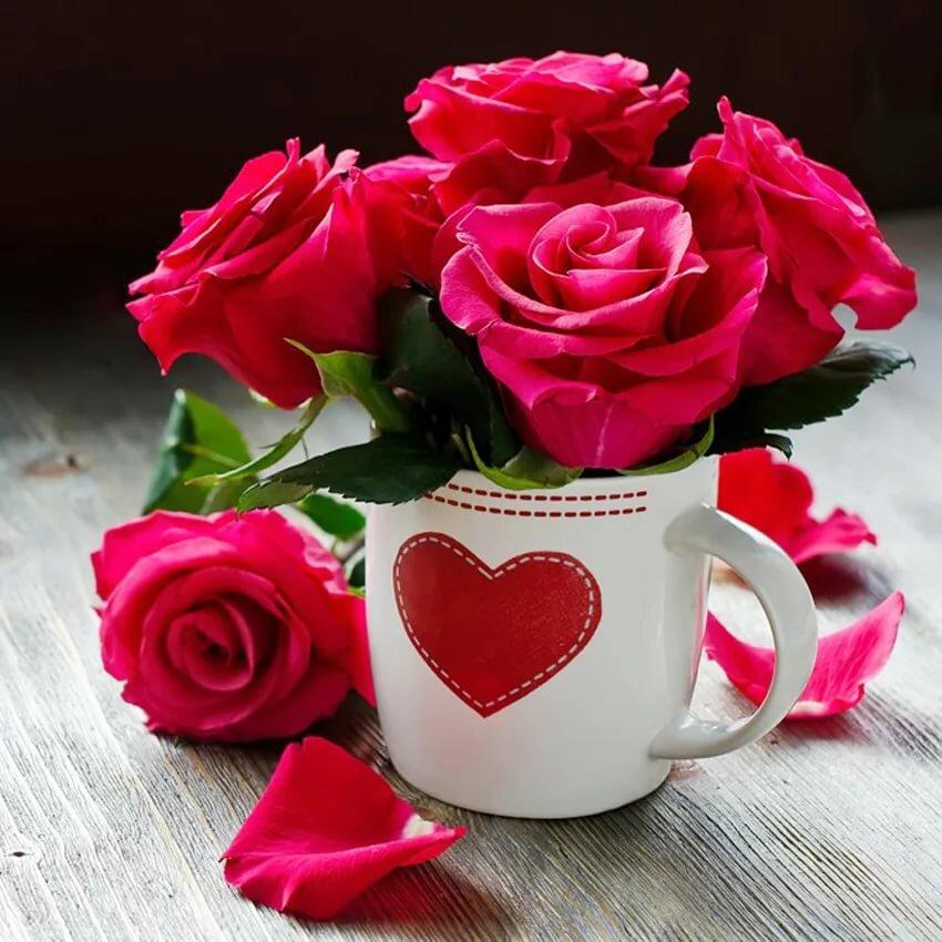 Открытки с добрый день любимая моя, днем святого валентина