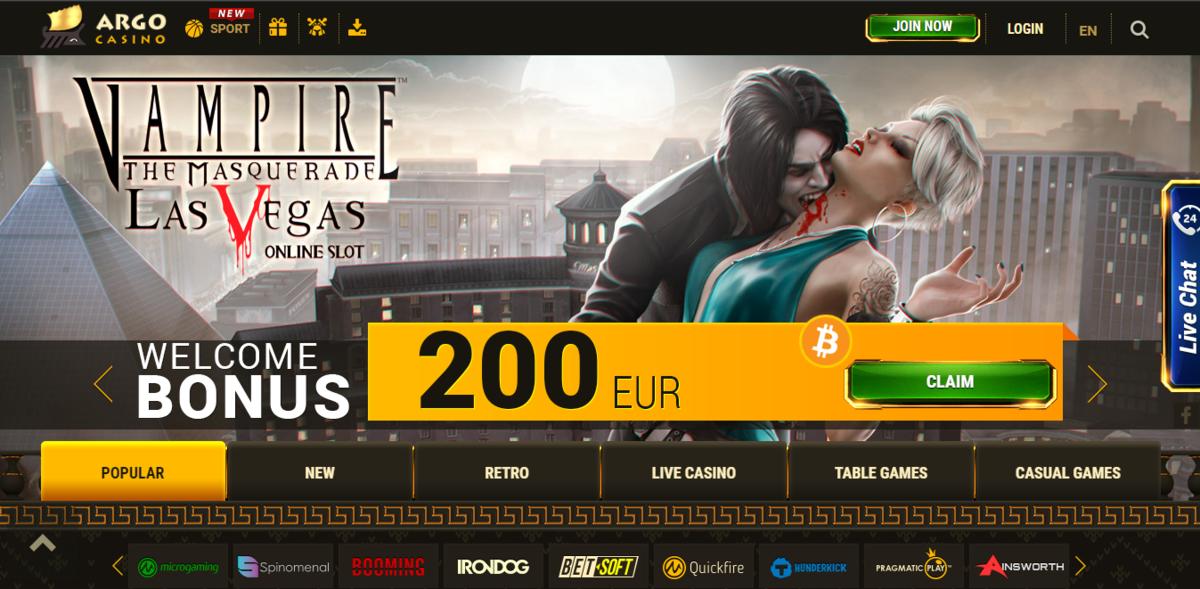 казино арго официальный сайт