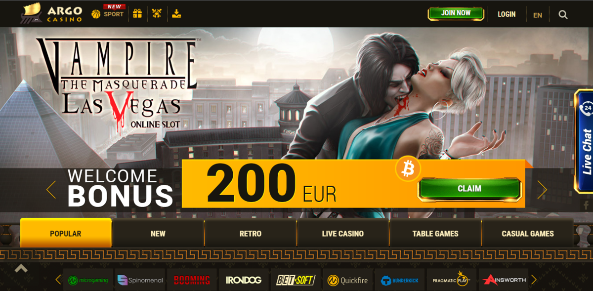 Особенности казино Argo Casino