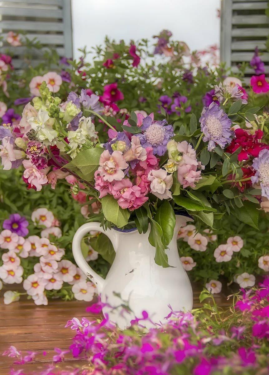 Картинки с добрым утром и прекрасного настроения в цветах