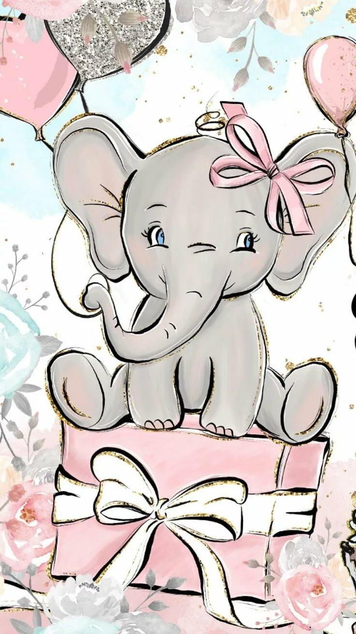 Слоник открытки