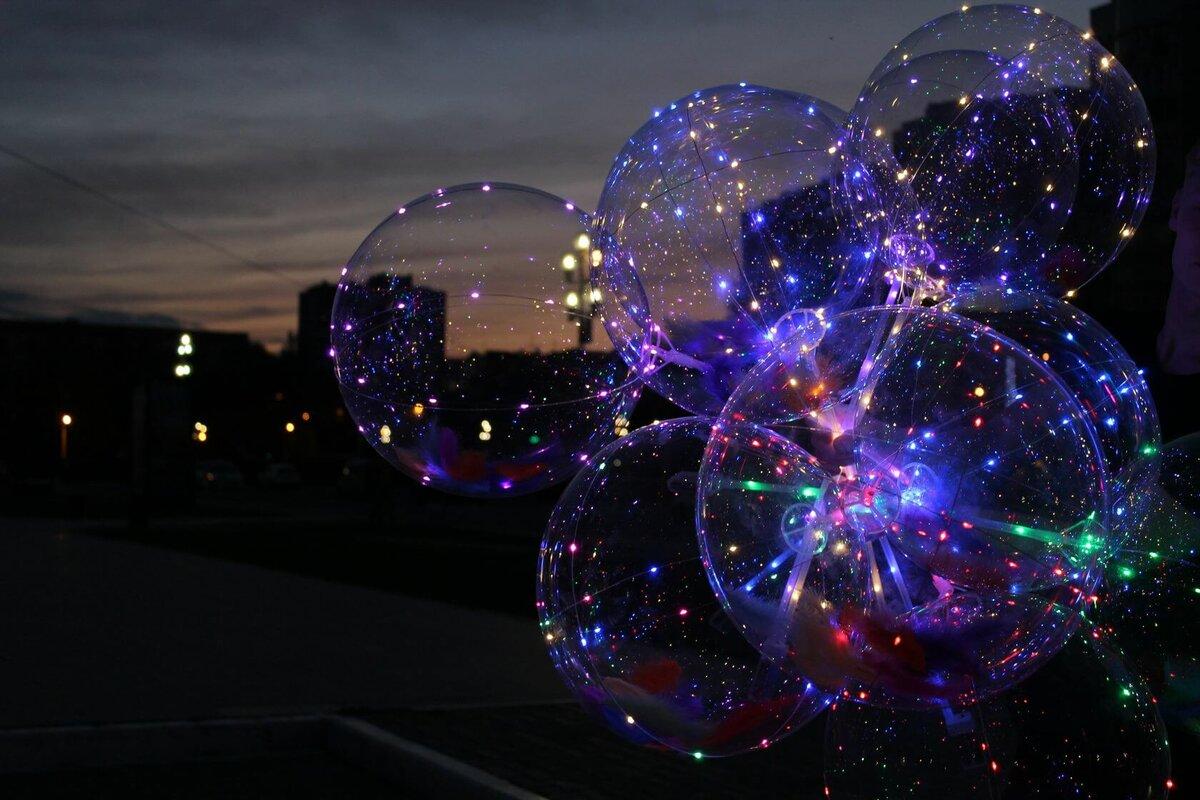 Мужчине, картинка светящиеся шары
