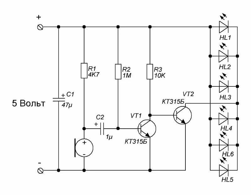 светодиод вместо фотодиода схемы гайморовой пазухи