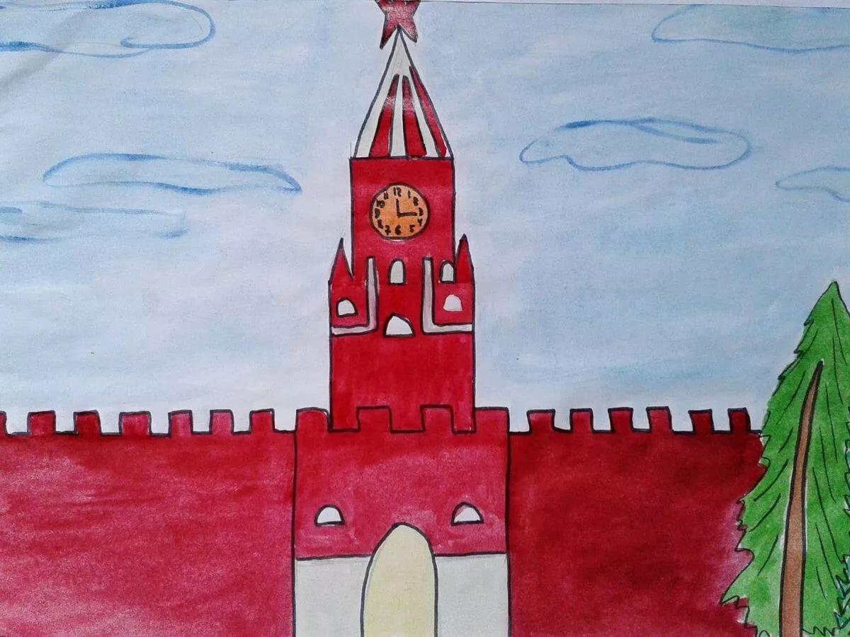 картинки красной площади в москве карандашом