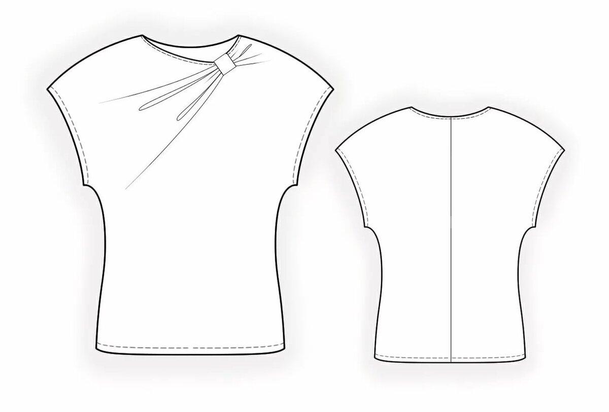Картинка выкройка блузы простая