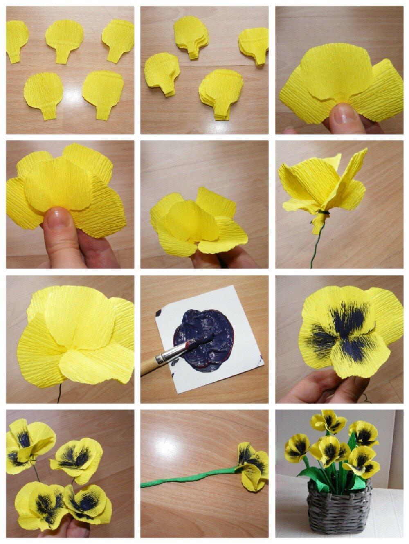Цветы своими руками пошагово в картинках
