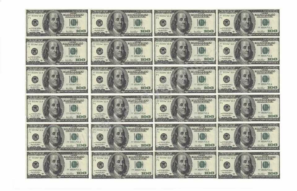 картинки долларовых купюр для двухсторонней печати