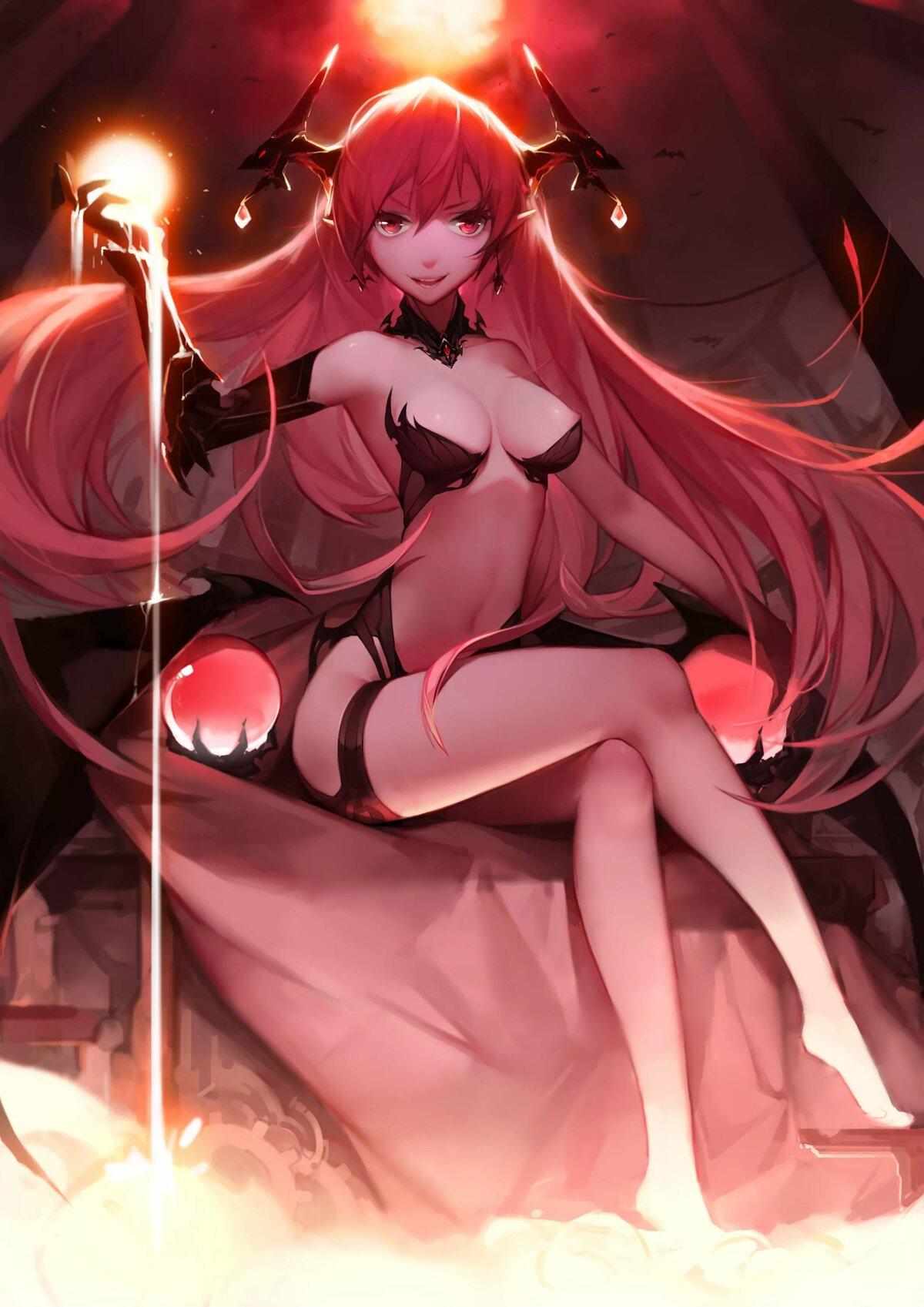 Демонесса аниме картинки