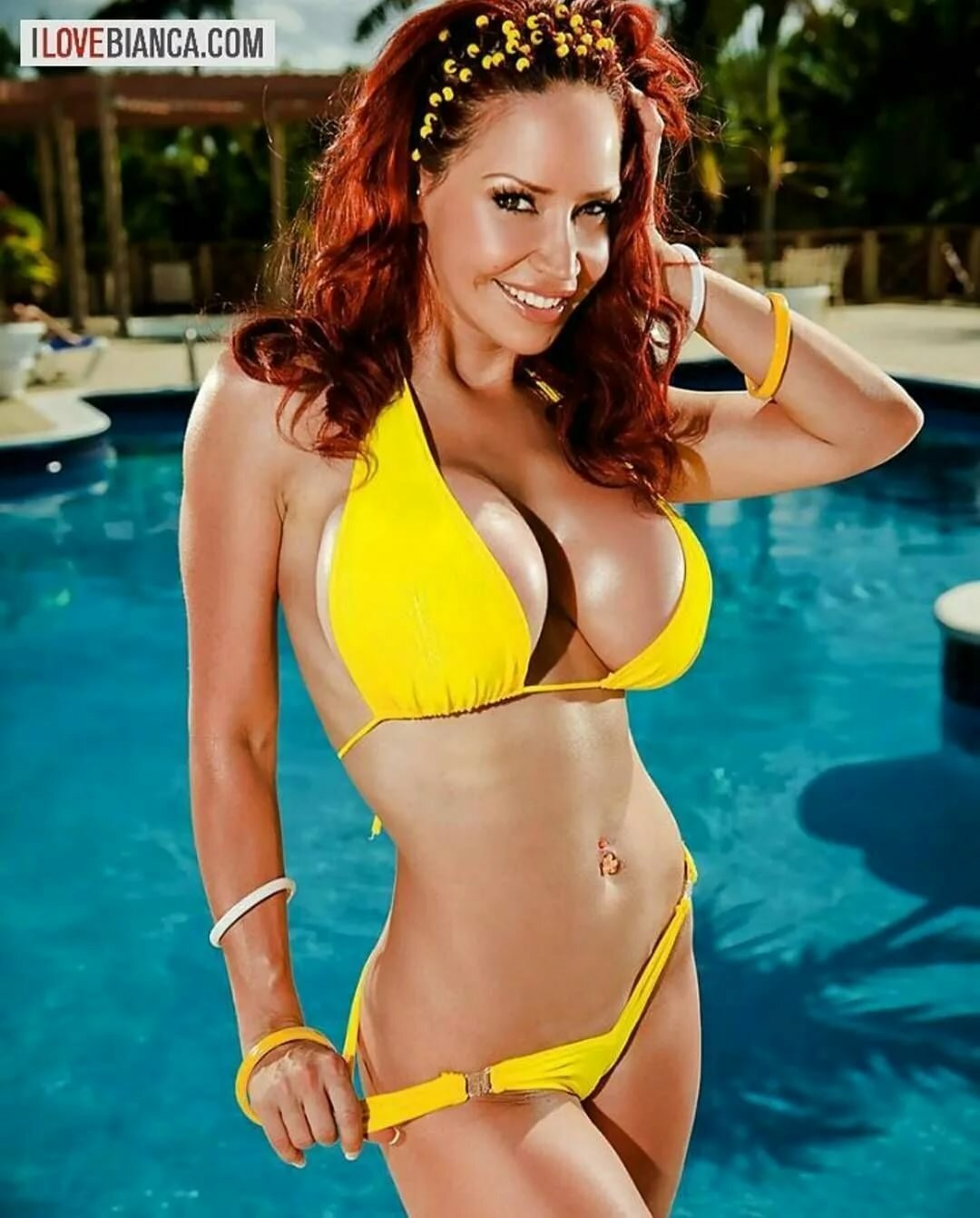 Bianca beauchamp in yellow bikini