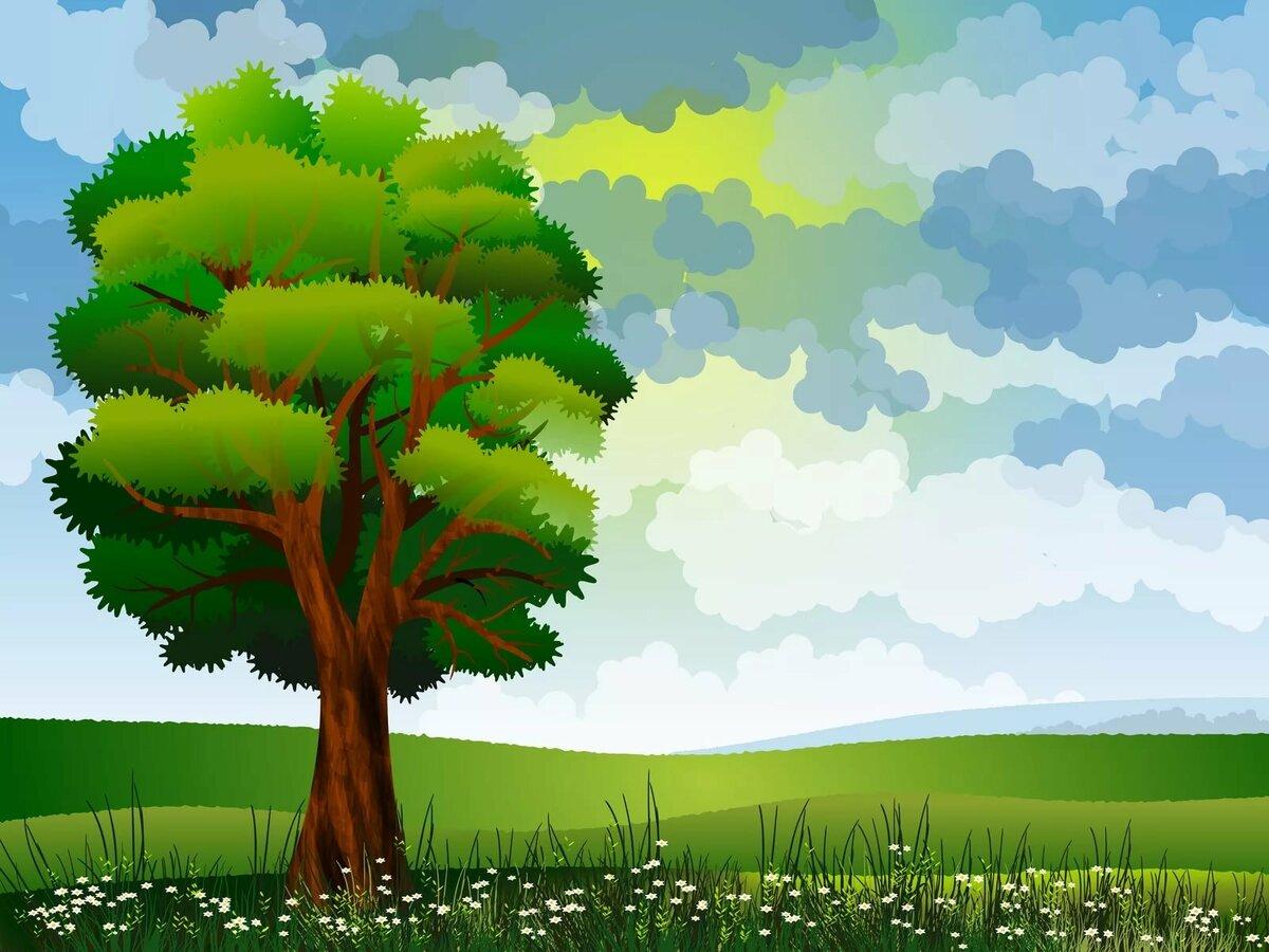Картинки рисунки детские леса