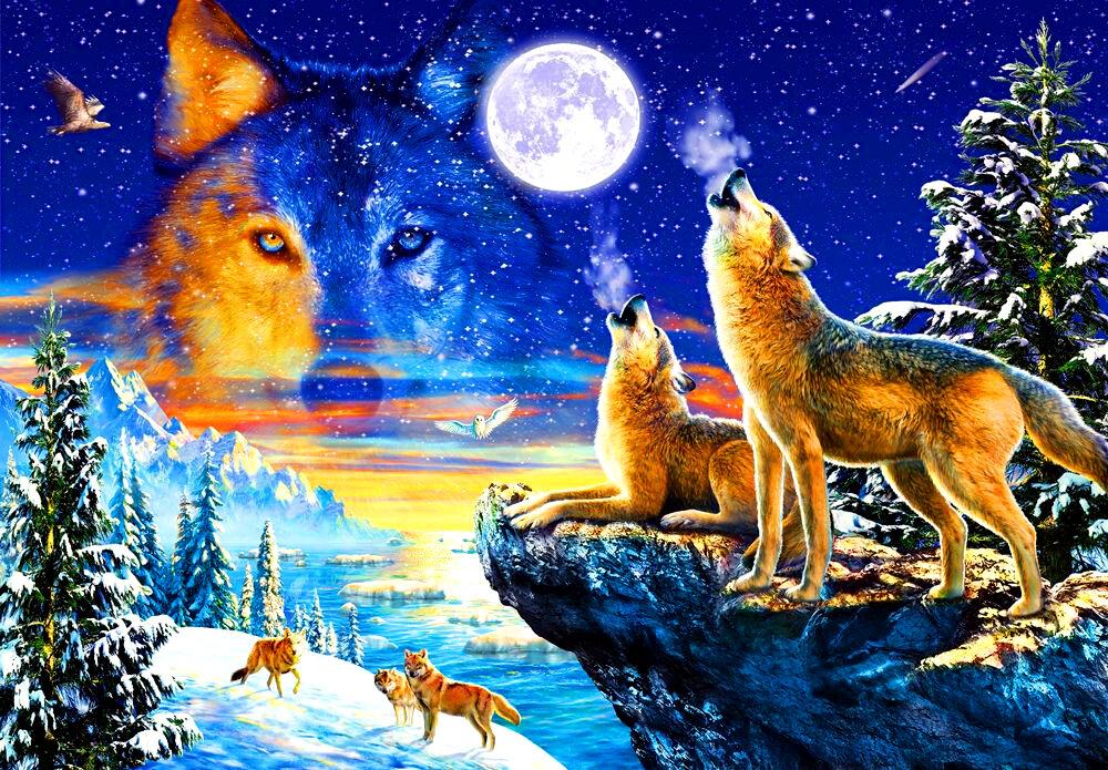 любят волк луна зима картинки сегодняшний день завод