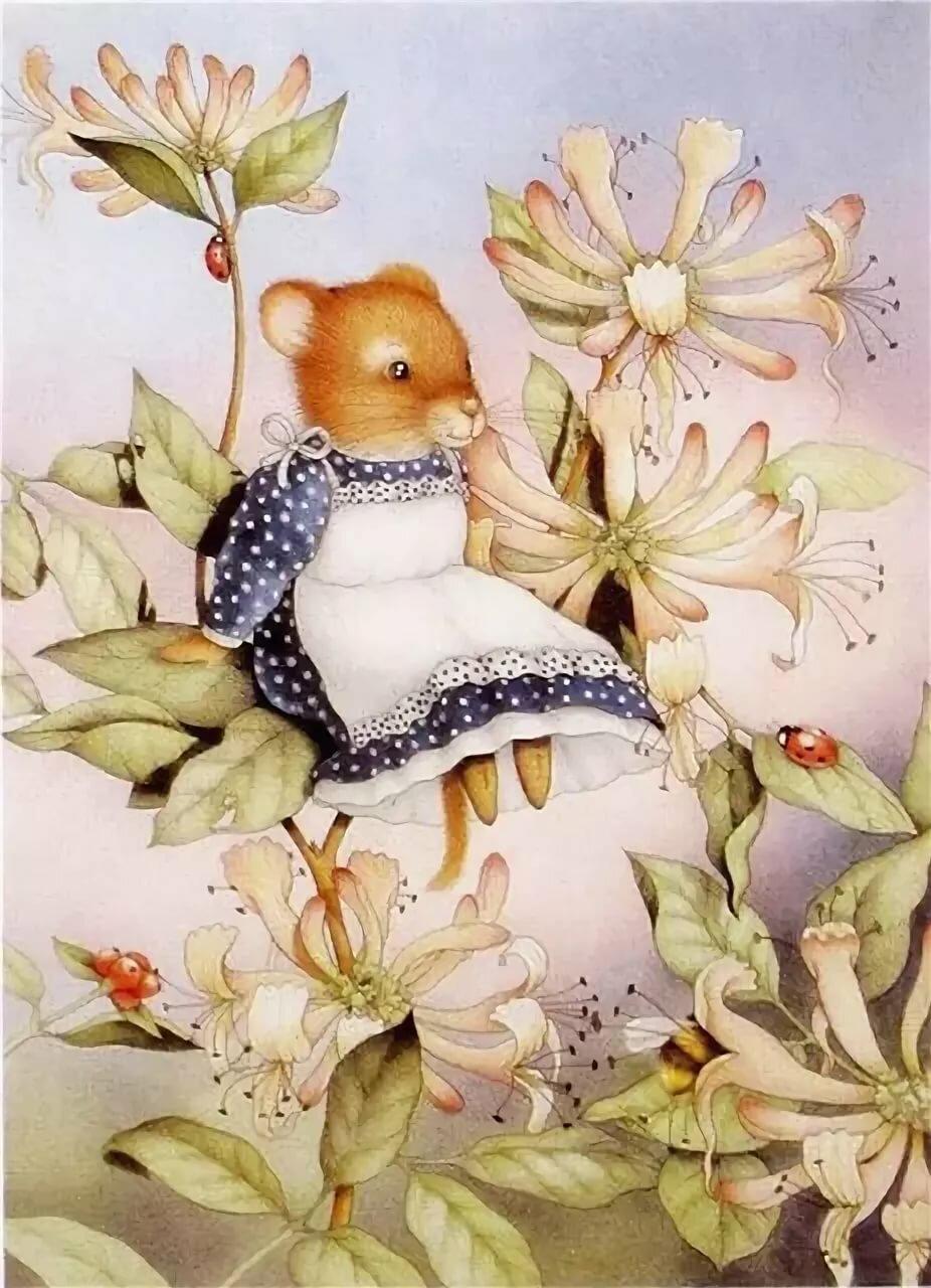 Винтажные открытки мышки, праздником марта
