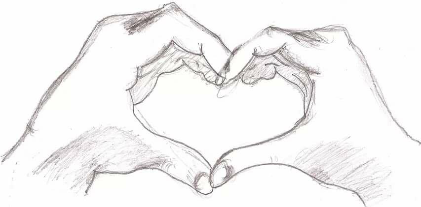 Картинки про любовь с надписями со смыслом парню карандашом поэтапно, пара