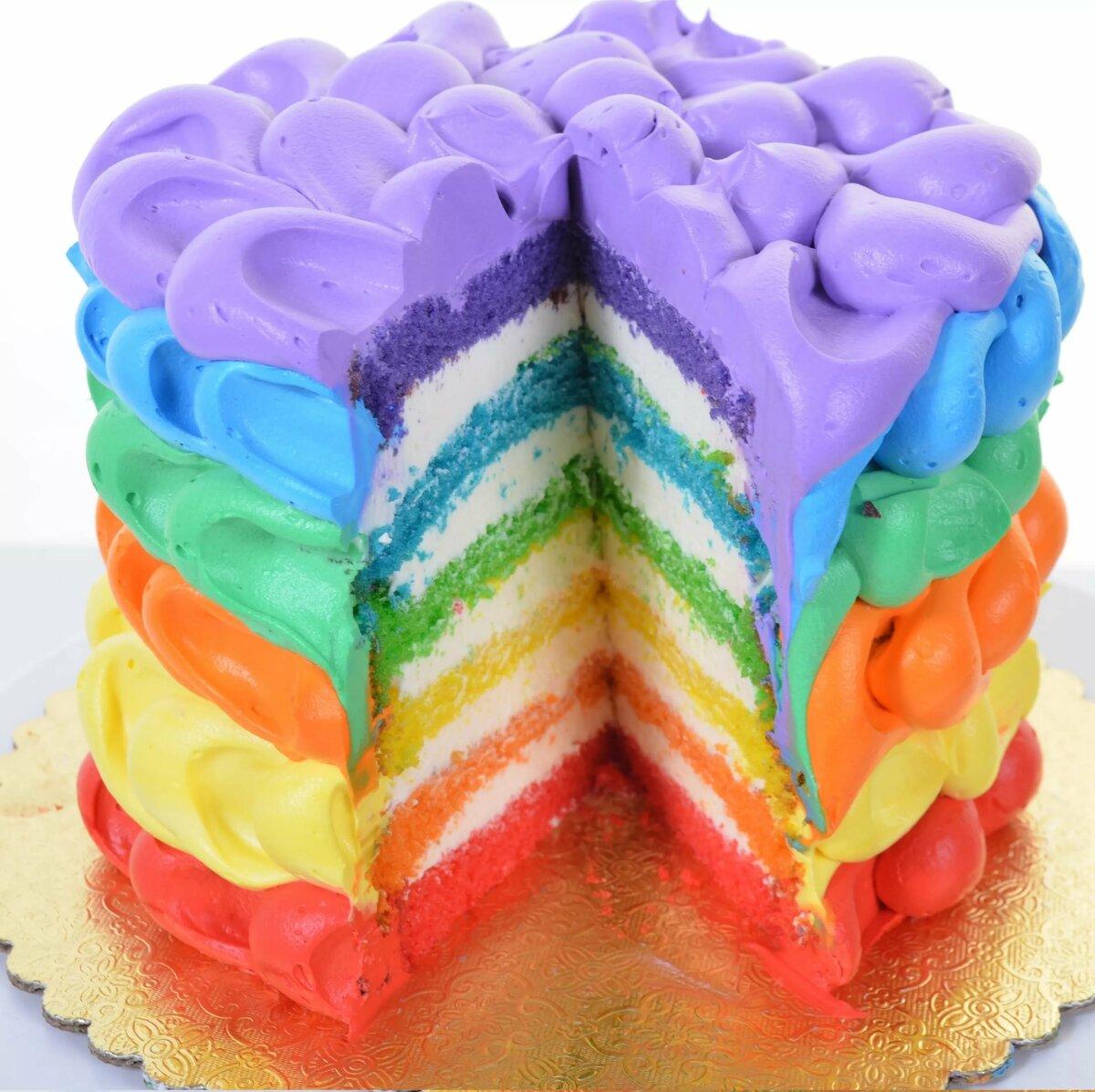 картинки радужного торта или, проще
