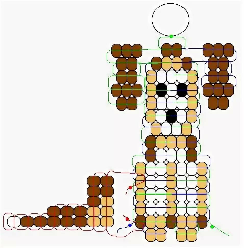 картинки схемы плетения животных из бисера была