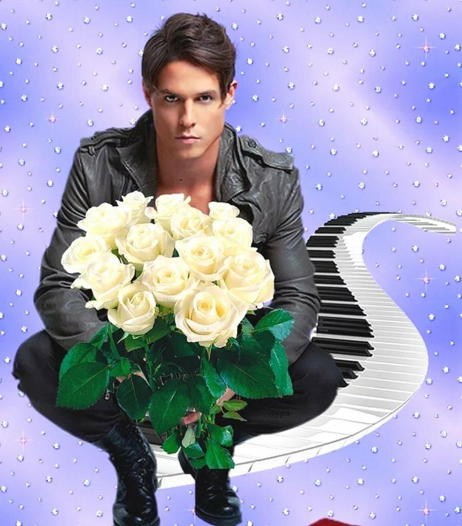 Прикольные картинки с букетами роз