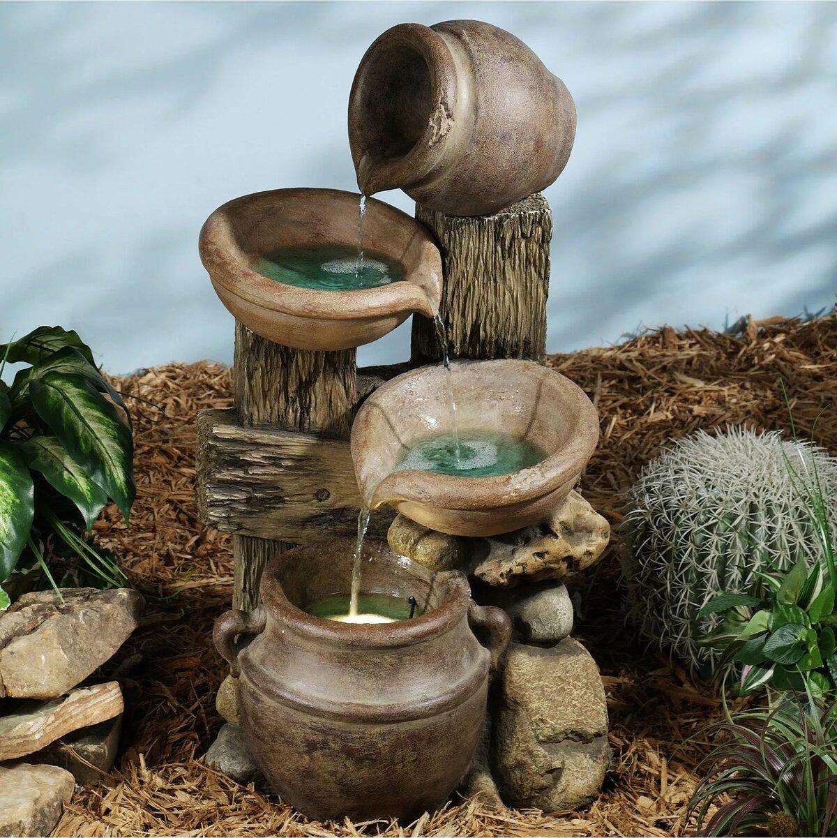 Выбор декоративного фонтана - виды и особенности