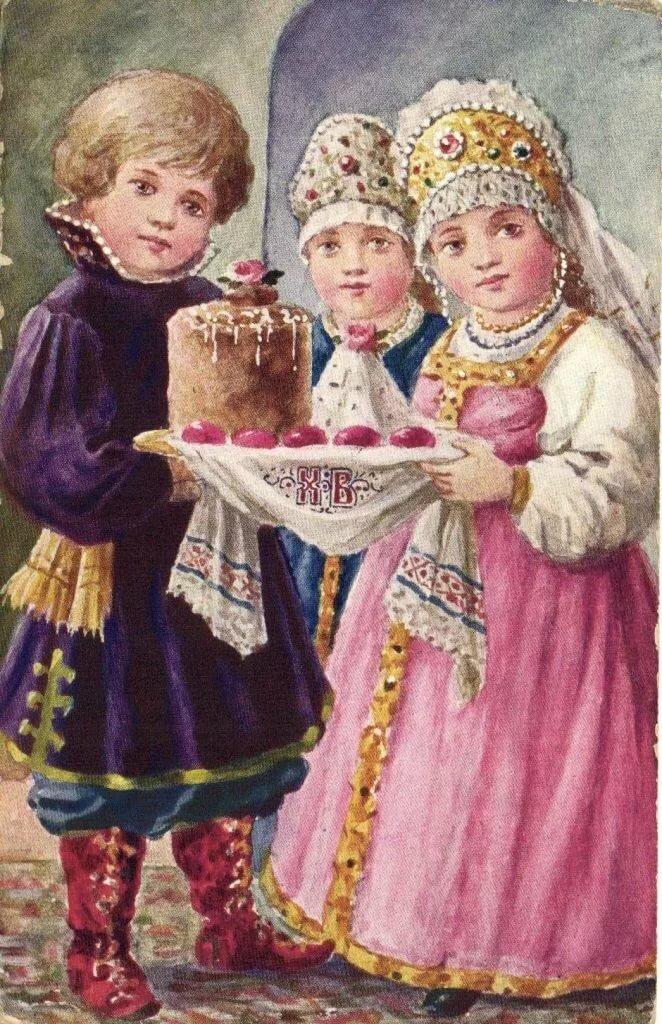 Русские детские открытки, мама картинки