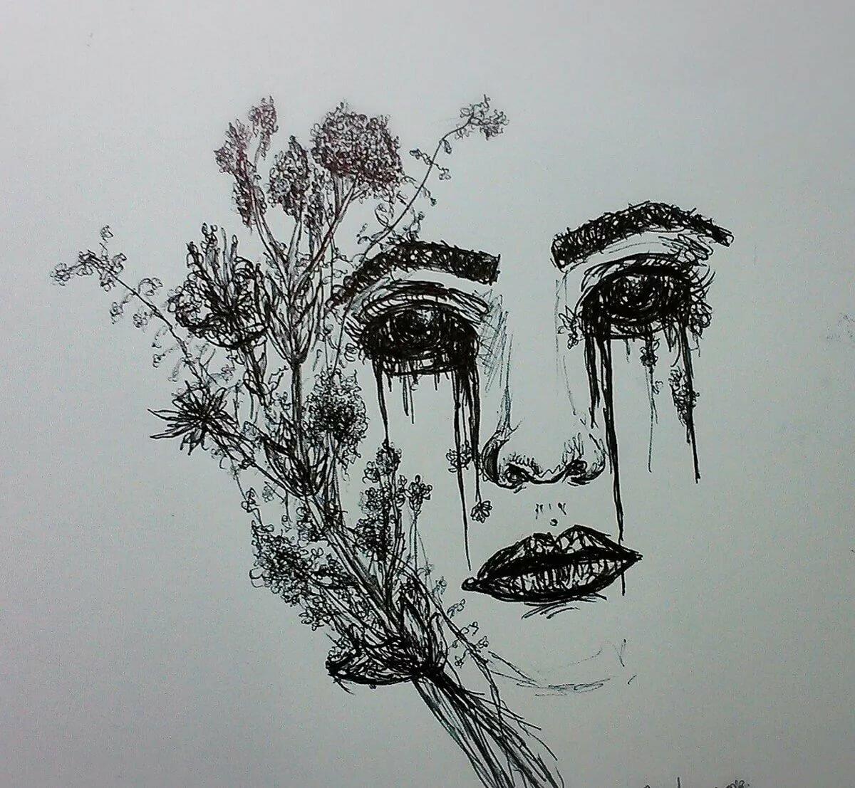 Рисунки в стиле тумблер черной ручкой